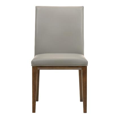Frankie Collection EQ-1011-15 Dining Chair with Solid Rubberwood Frame in Gray