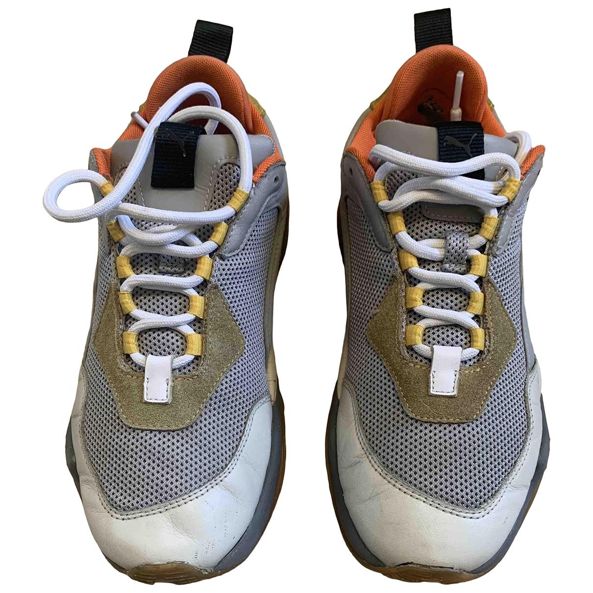 Puma - Baskets   pour homme en cuir - gris