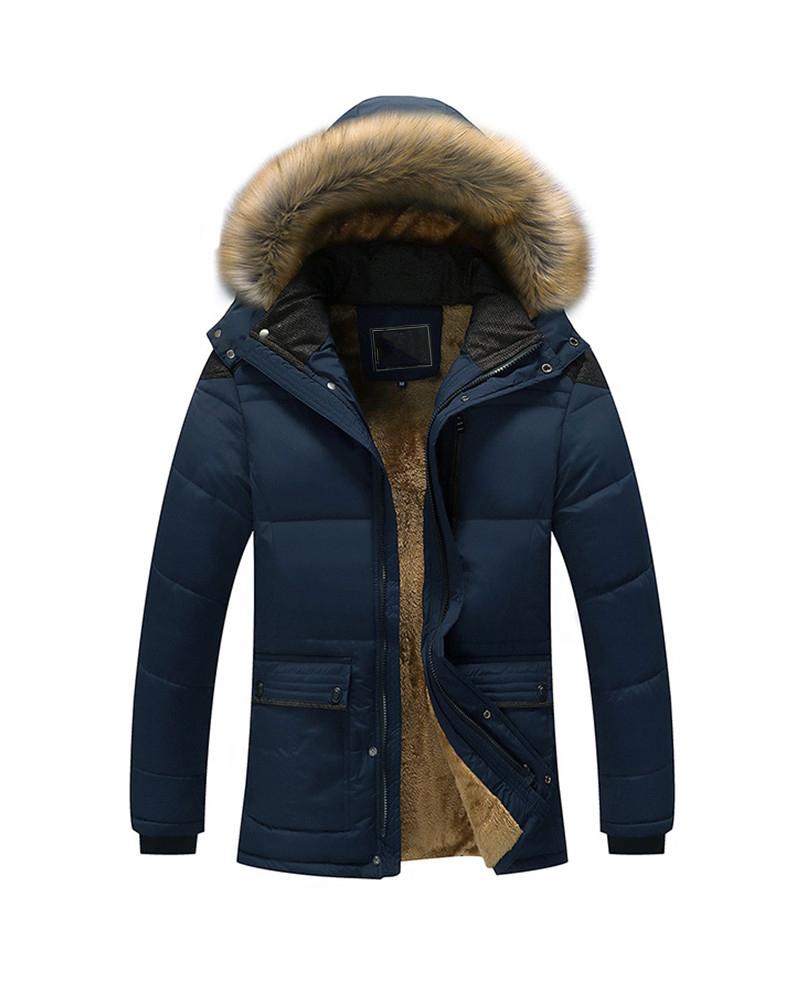 Hooded Thicken Casual Style Zipper Fleece Cardigan Coat