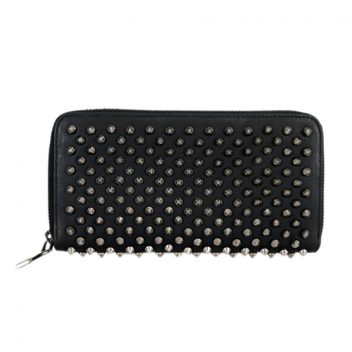 Christian Louboutin Panettone Black Leather wallet for Women \N