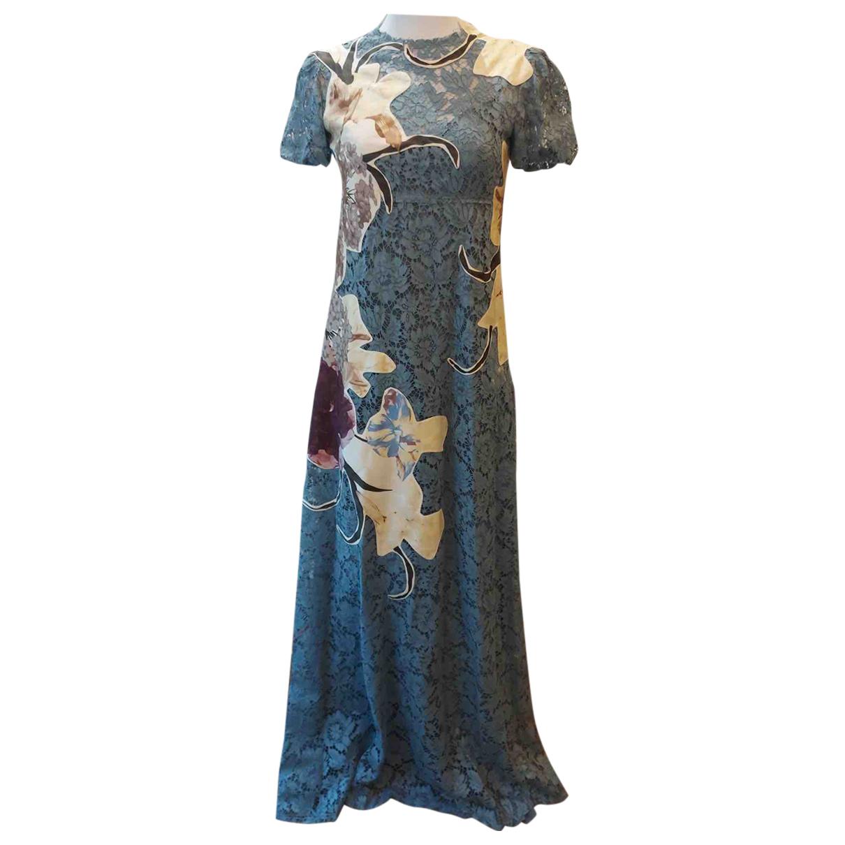 Valentino Garavani N Blue Lace dress for Women 40 IT