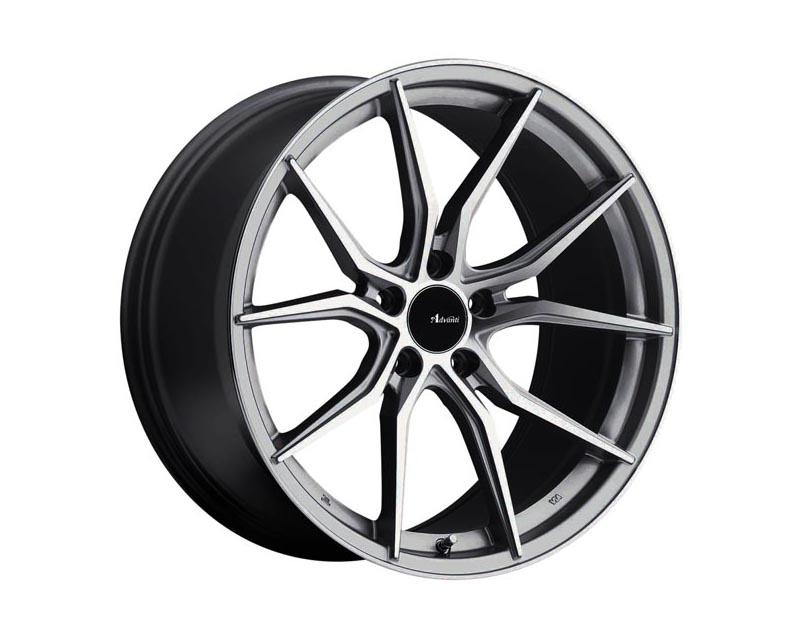 Advanti Racing Hybris Wheel 20x8.5 5x114.3 40 SLMCXX Machine Face Silver