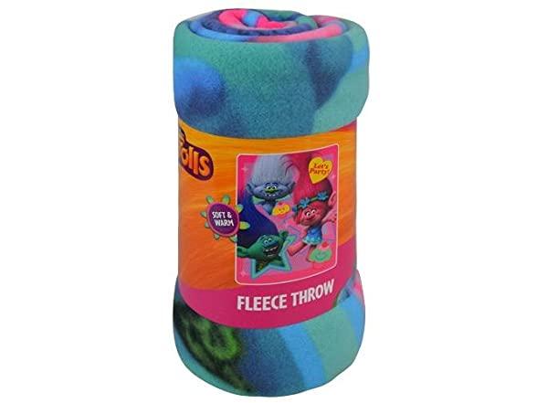 Dreamworks Trolls Fleece Throw Blanket