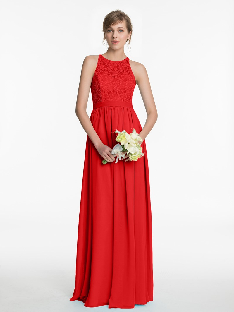 Ericdress Sashes Lace Bridesmaid Dress