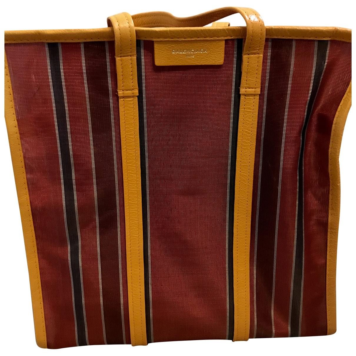Balenciaga Bazar Bag Burgundy Cloth handbag for Women \N
