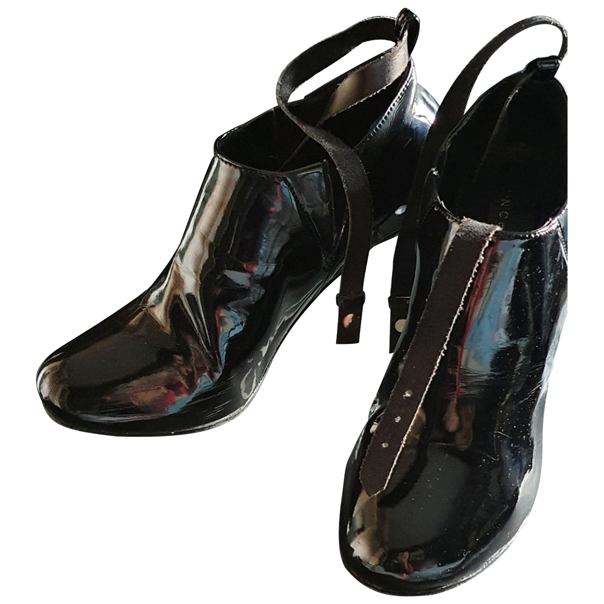 Cnc \N Black Patent leather Ankle boots for Women 37 EU