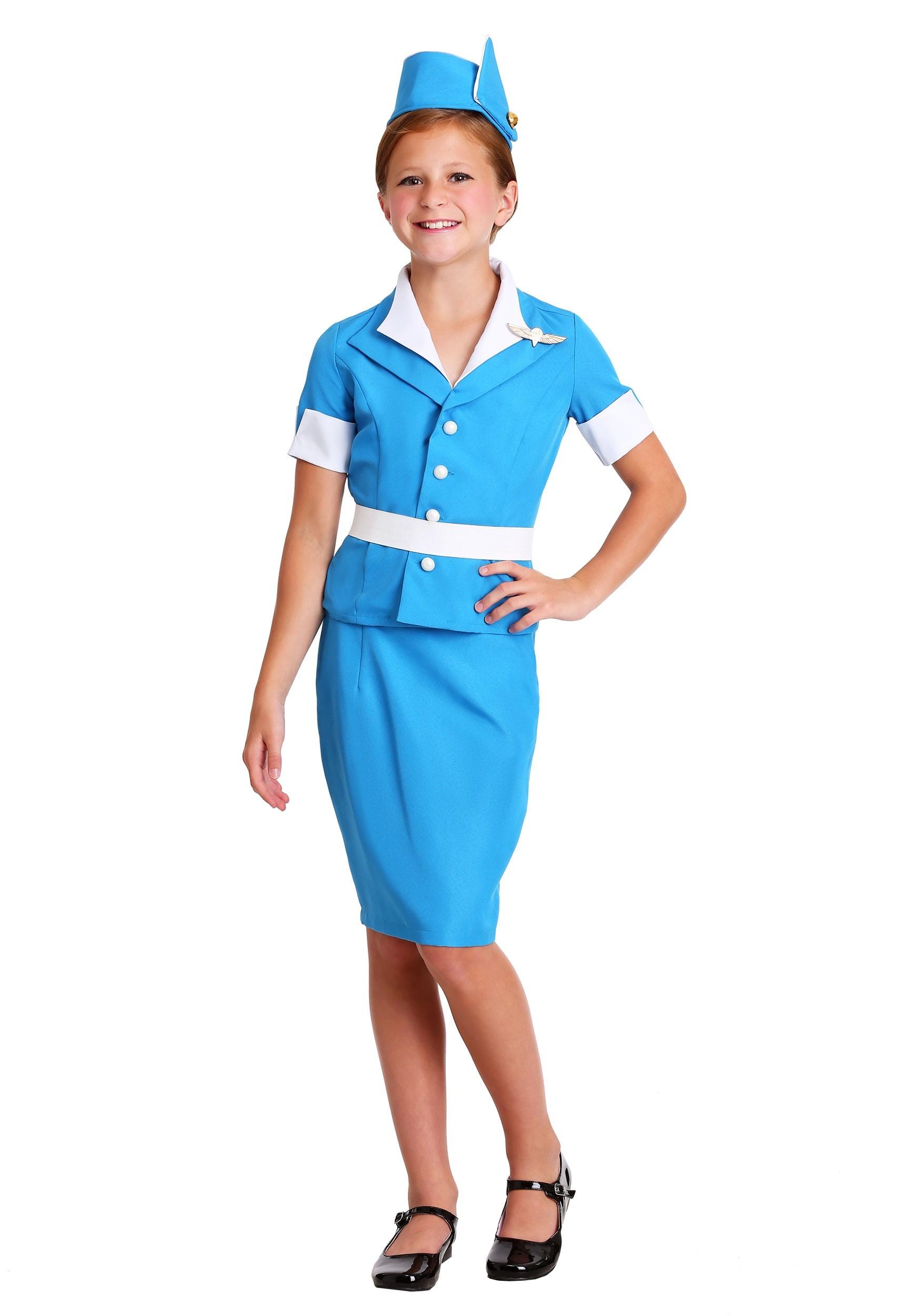 Flight Attendant Costume for Girls