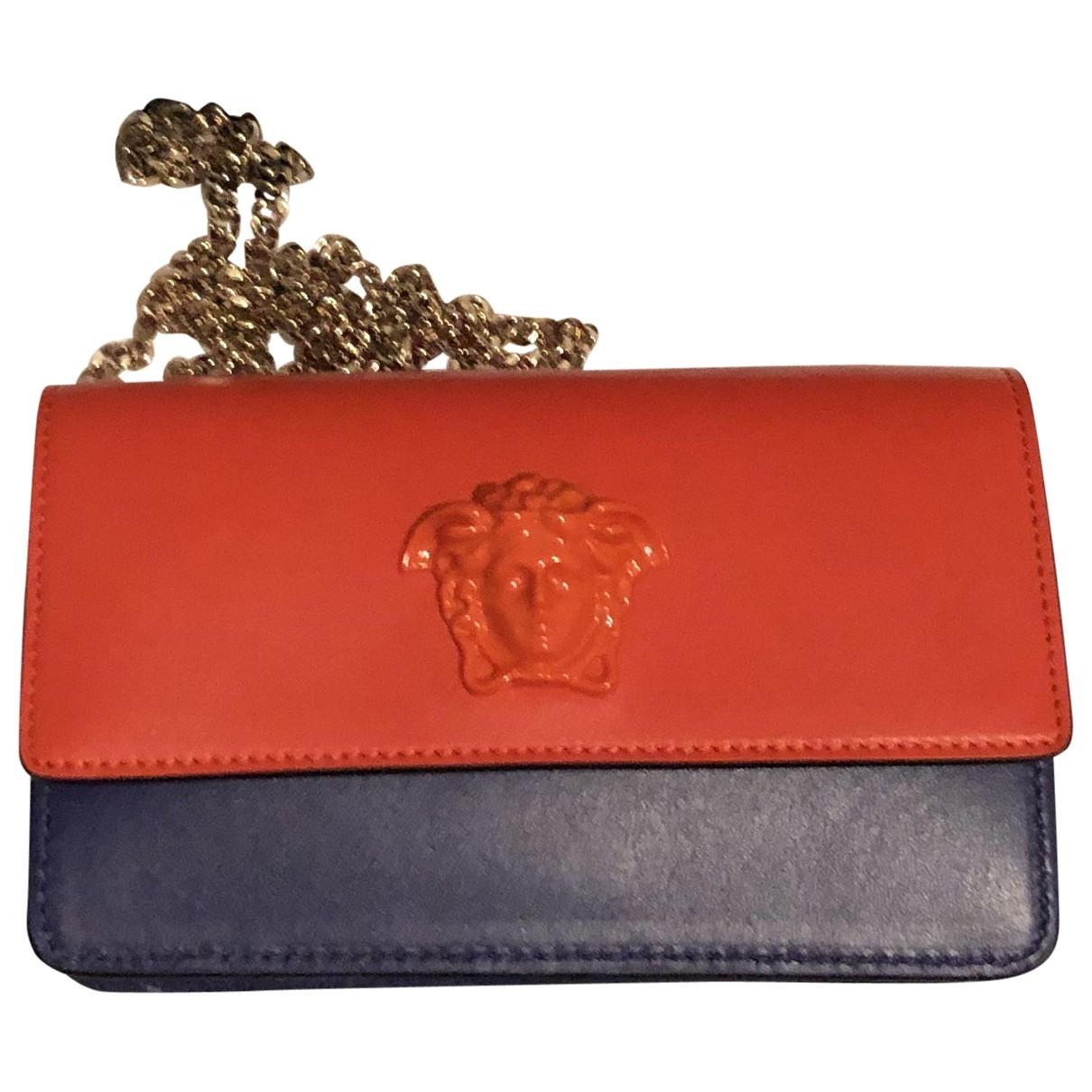 Versace - Pochette   pour femme en cuir - bleu