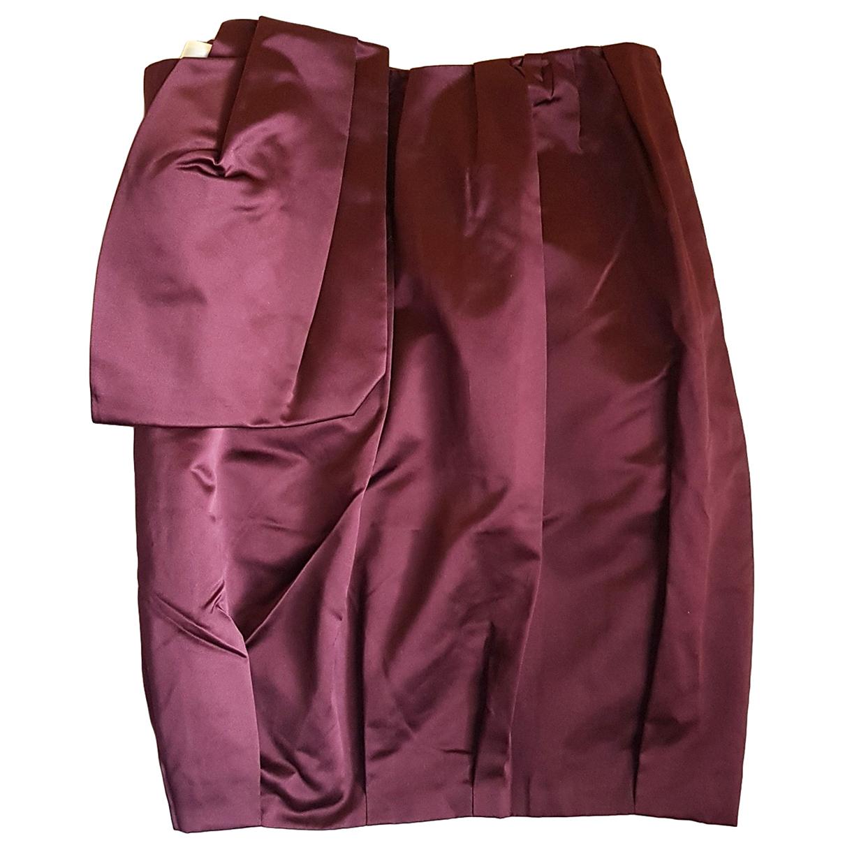 Prada N Burgundy Silk skirt for Women 36 FR
