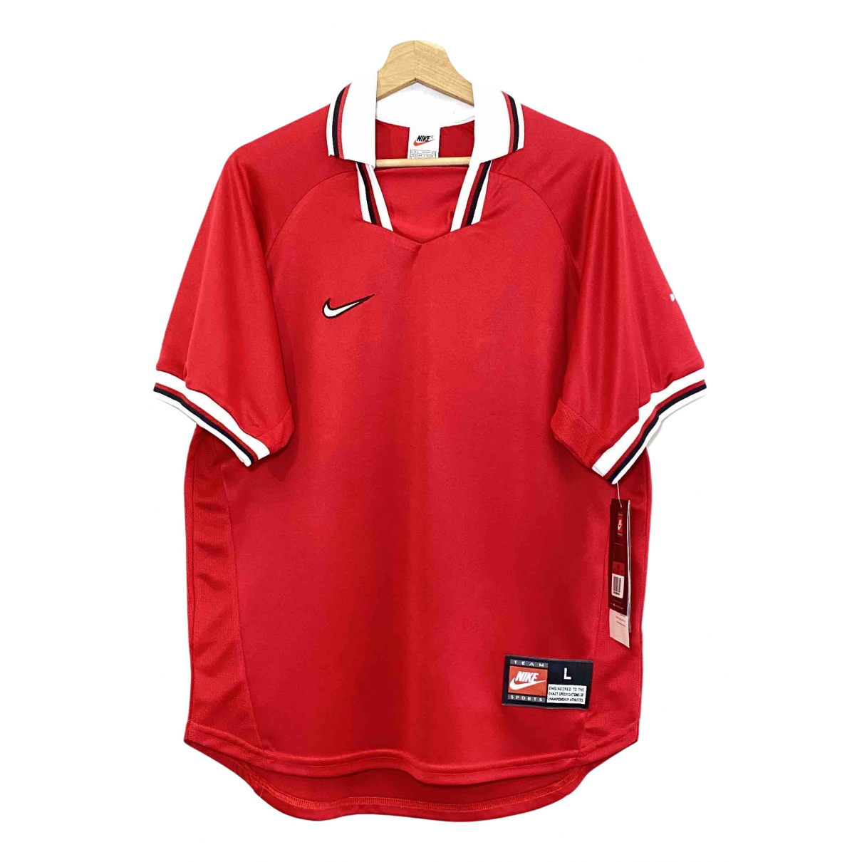 Nike N Red T-shirts for Men L International