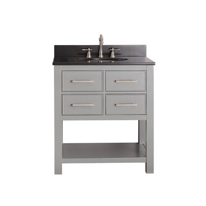 BROOKS-VS30-CG-A Avanity Brooks 30 in. Vanity Combo in Chilled Gray Finish with Black Granite