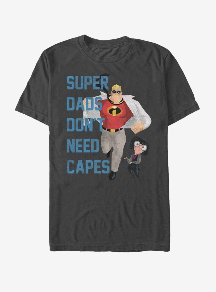 Disney Pixar The Incredibles Super Dads Don't Need Capes T-Shirt