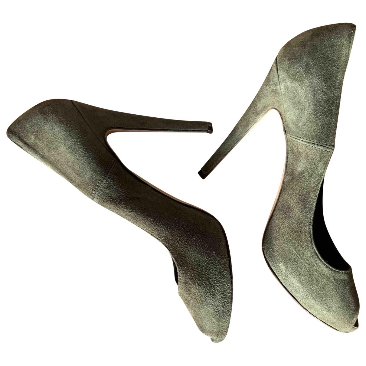 - Escarpins   pour femme en suede - vert