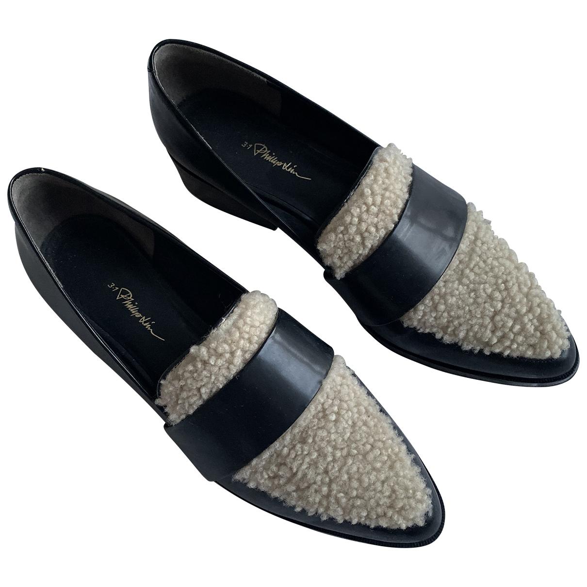 3.1 Phillip Lim \N Black Leather Flats for Women 40 EU