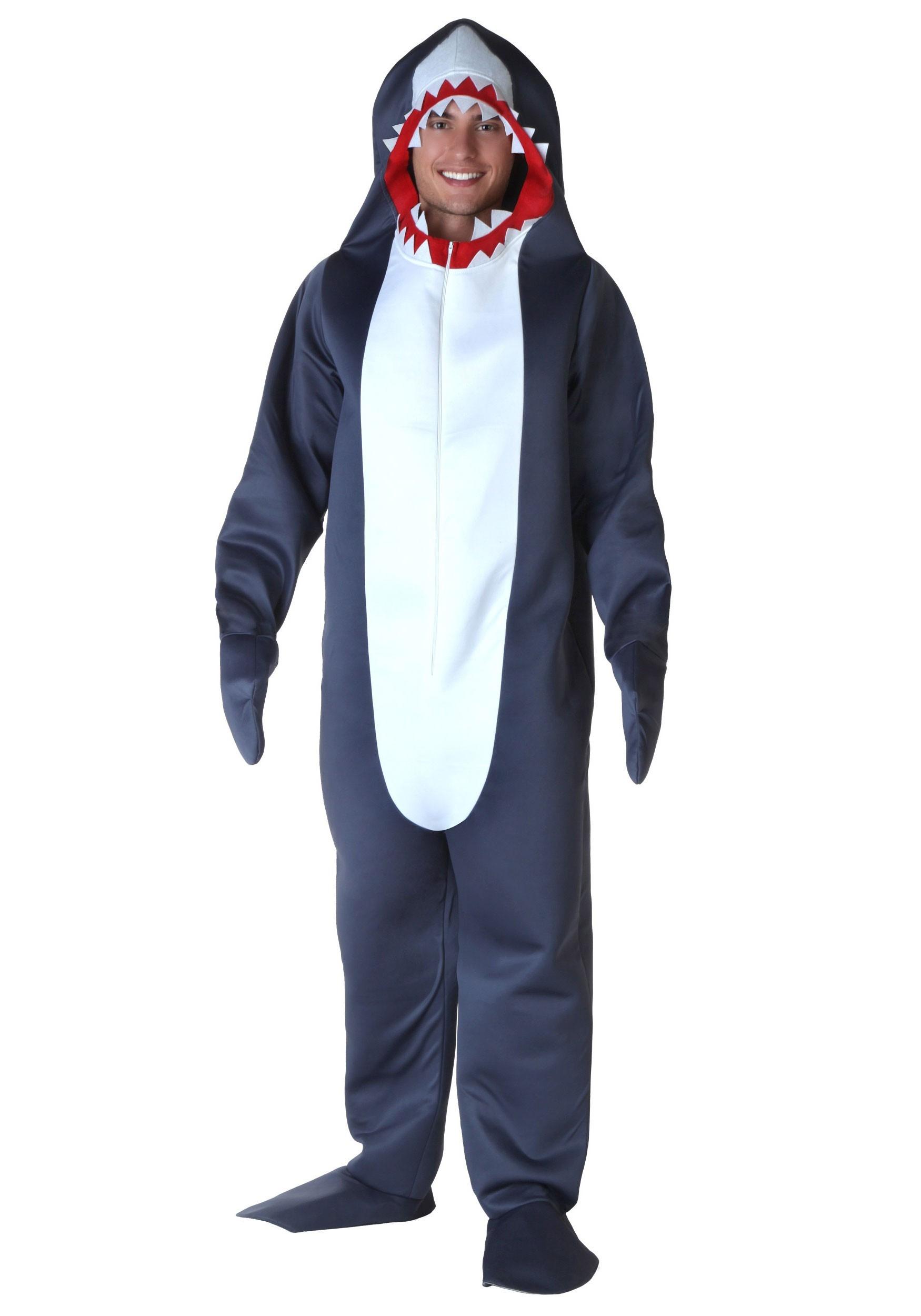 Grey Shark Costume for Men