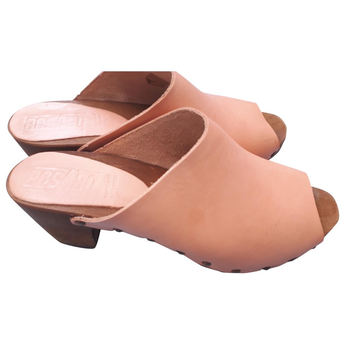 Bosabo - Sabots   pour femme en cuir - rose
