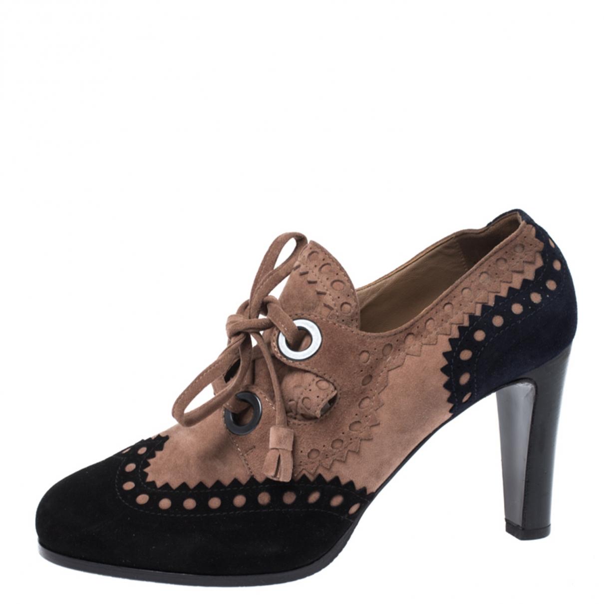 Hermès \N Multicolour Suede Ankle boots for Women 7 US
