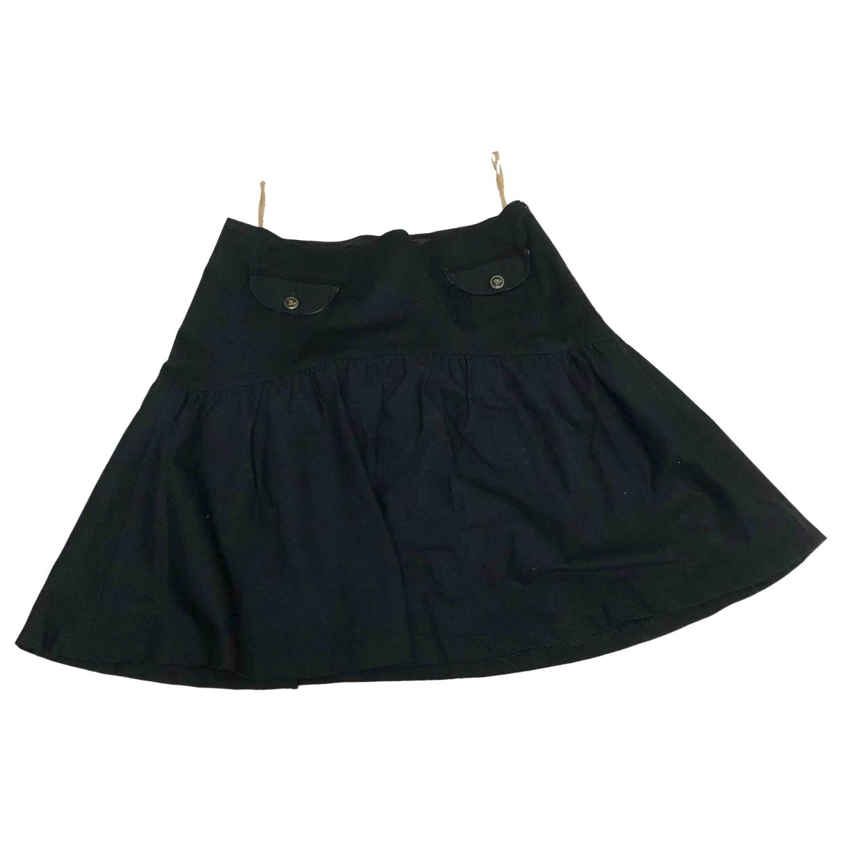 Burberry \N Black Cotton skirt for Women 38 IT