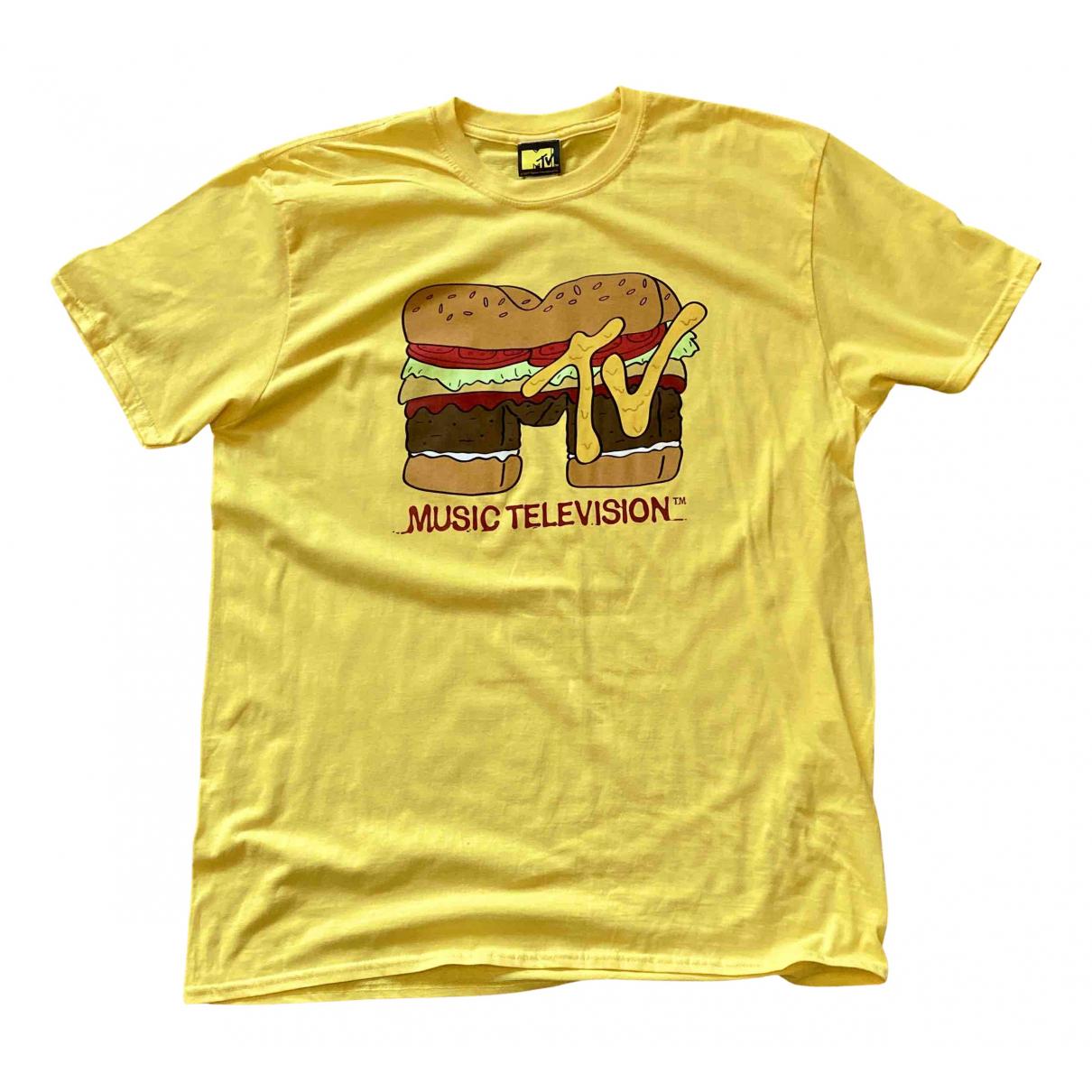 - Tee shirts   pour homme en coton - jaune