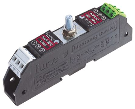 WJ Furse ESP E Series 7.79 V Maximum Voltage Rating 5 kA, 20 kA Maximum Surge Current Twisted Pair Surge Protector, DIN