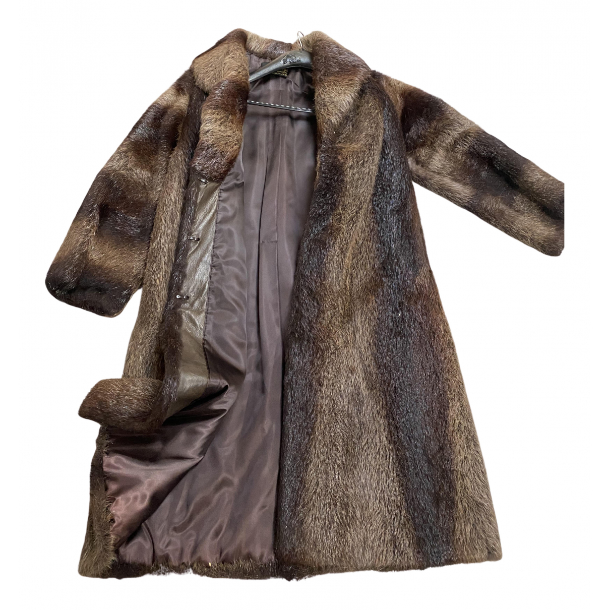 Non Signé / Unsigned N Brown Mink coat for Women 38 FR
