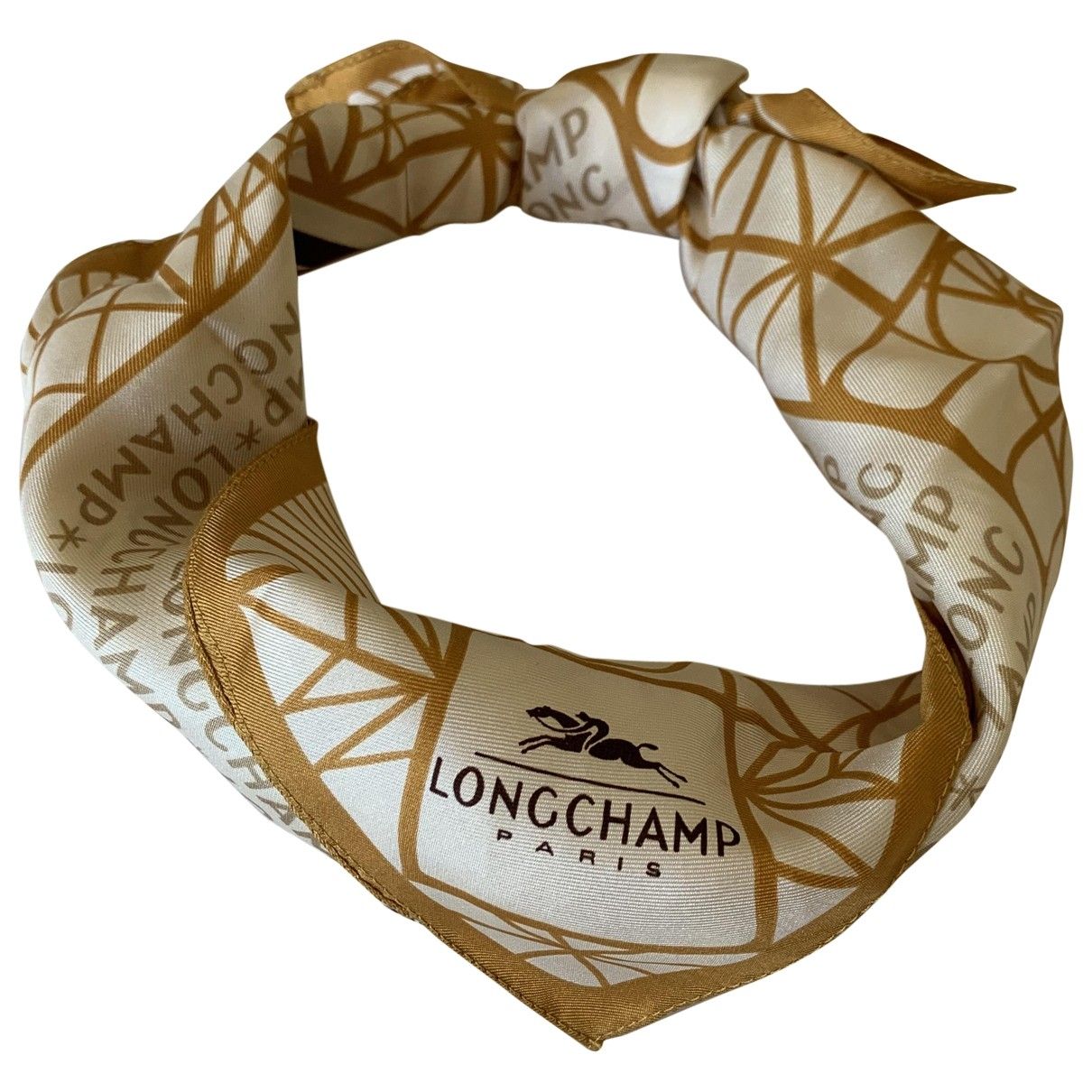 Longchamp \N Schal in  Beige Seide
