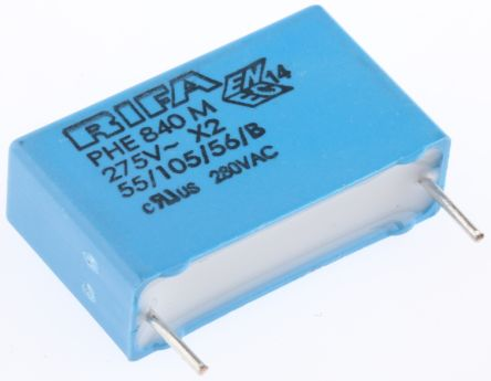 KEMET 470nF Polypropylene Capacitor PP 275V ac ±20% Tolerance Through Hole PHE840 Series (10)