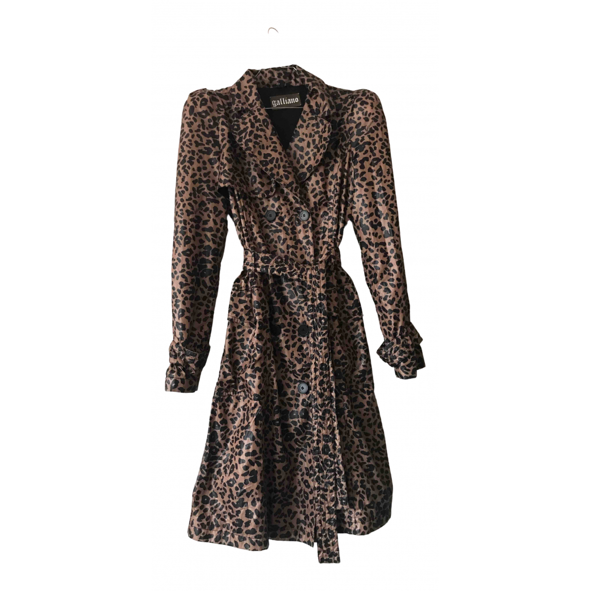 Galliano N Brown coat for Women 42 IT
