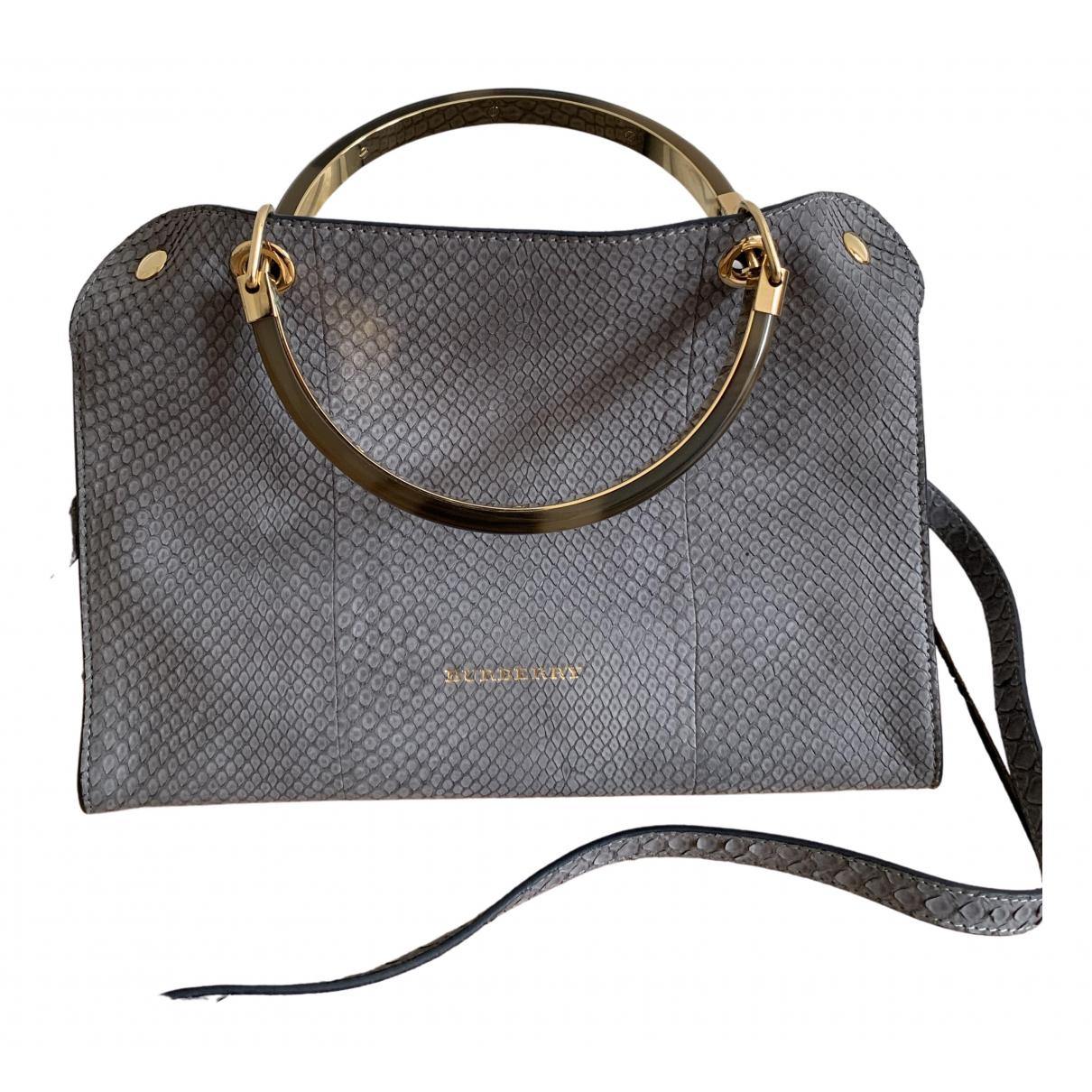 Burberry \N Blue Python handbag for Women \N