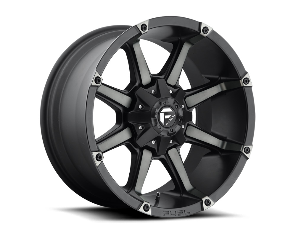 Fuel D556 Coupler Black & Machined w/ Dark Tint 1-Piece Cast Wheel 20x10 8x165.1 -24mm