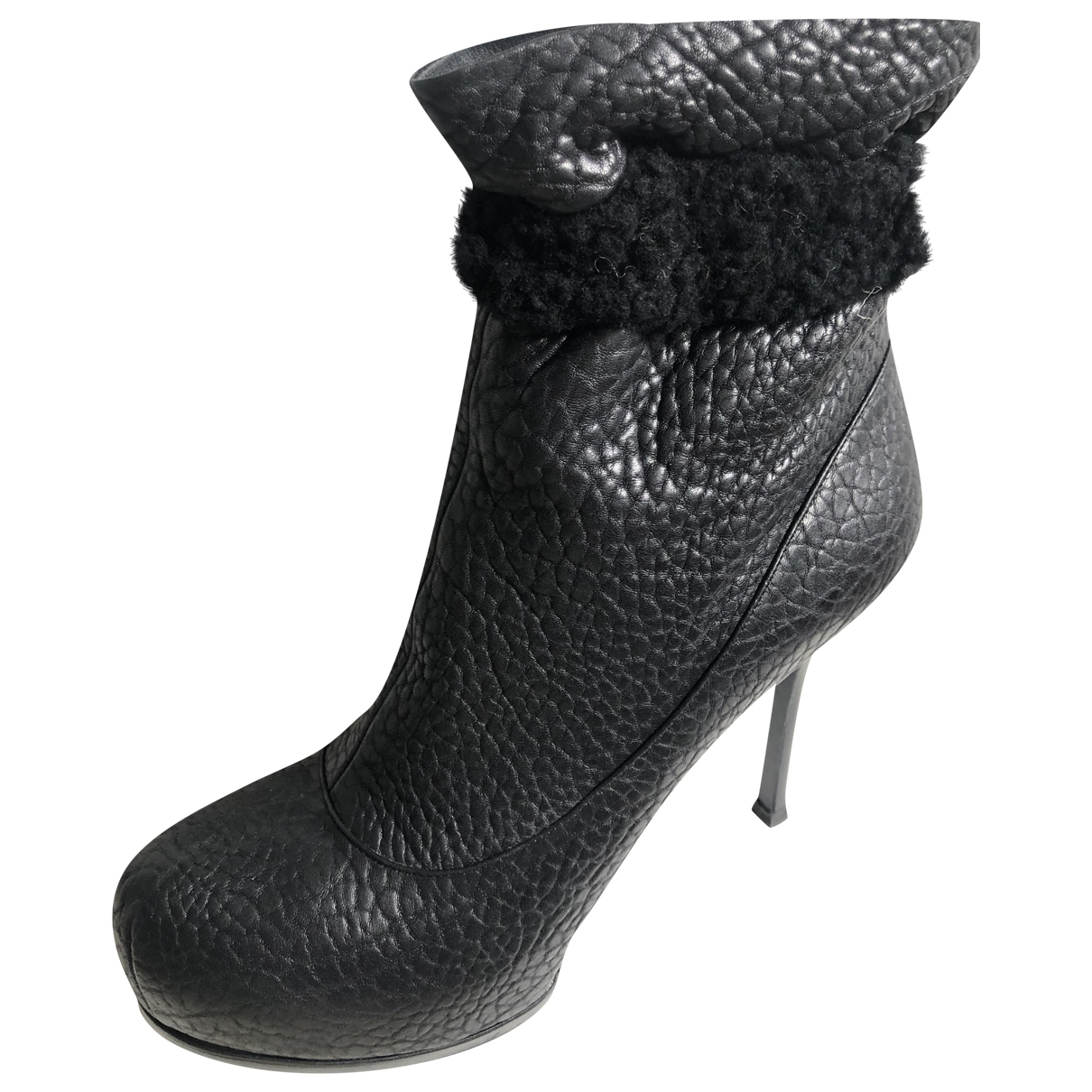 Yves Saint Laurent \N Black Leather Ankle boots for Women 40 EU