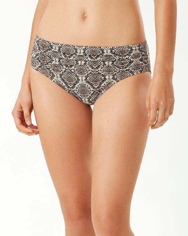 Desert Python High-Waist Bikini Bottoms