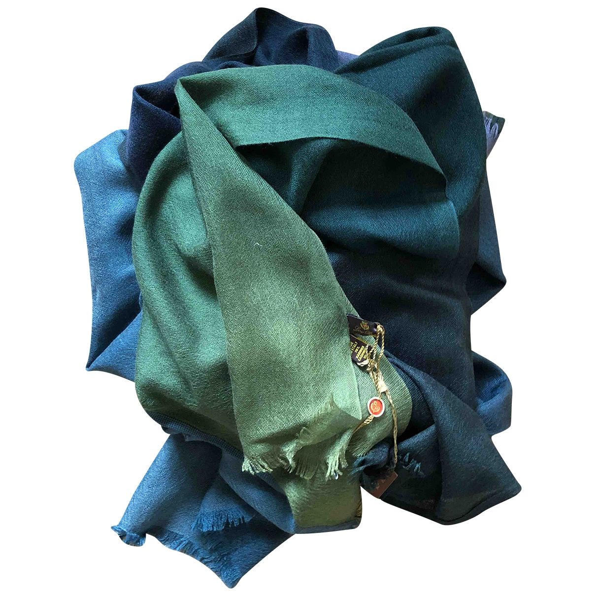 Loro Piana - Foulard   pour femme en cachemire - vert