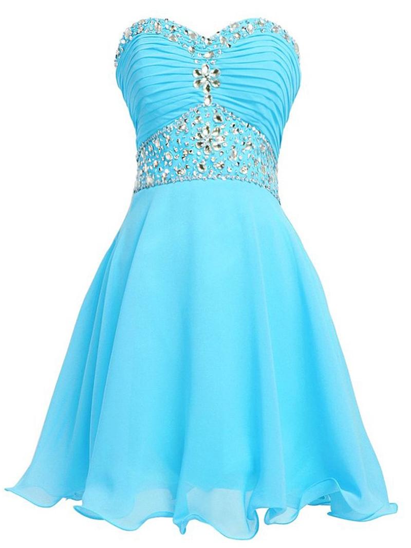 Ericdress Sweetheart Beadings A-Line Mini Homecoming Dress