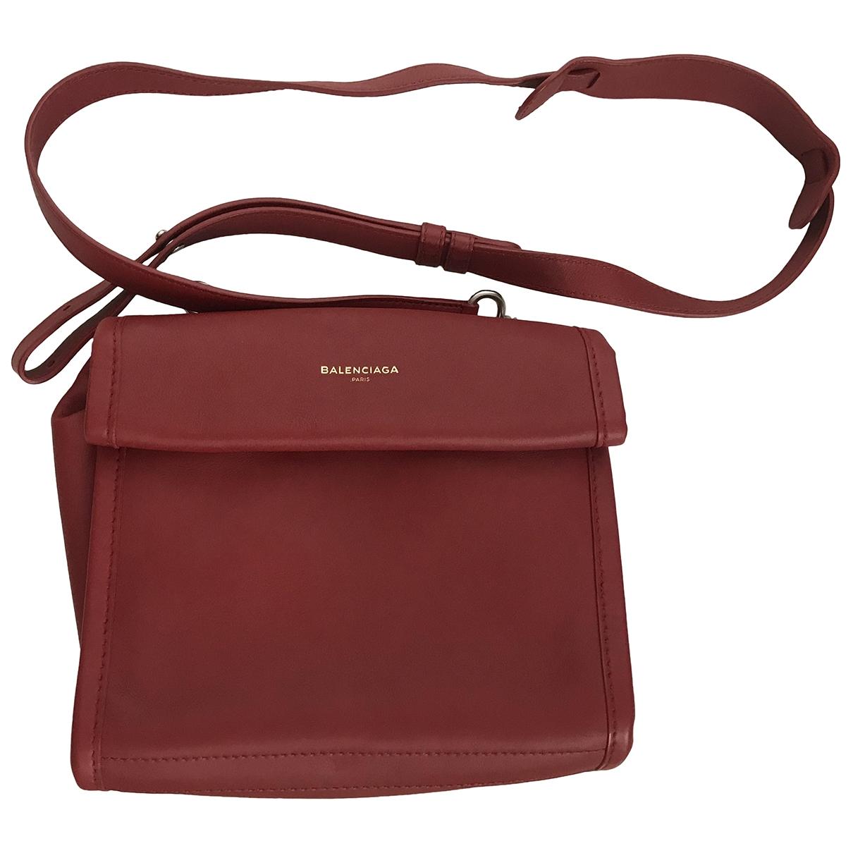 Balenciaga B Red Leather handbag for Women \N