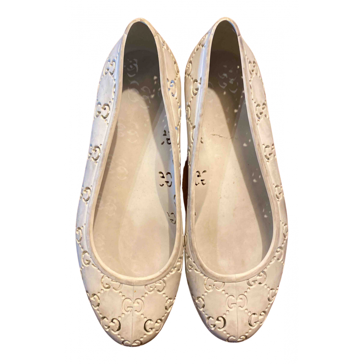 Gucci N White Ballet flats for Women 38 EU