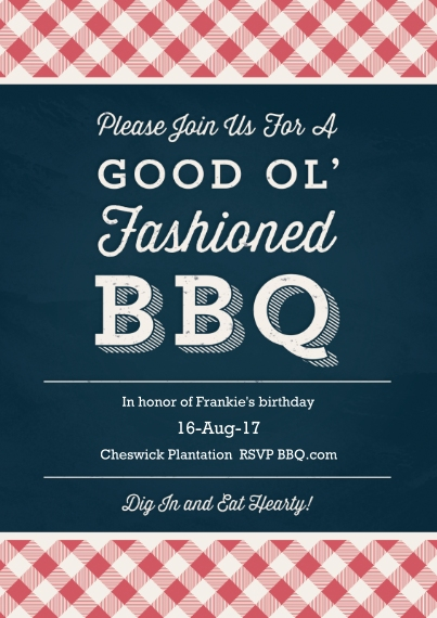Summer Party Invitations 5x7 Cards, Premium Cardstock 120lb with Rounded Corners, Card & Stationery -Light Up the Coals