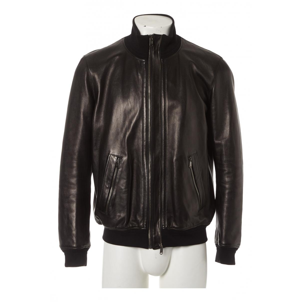 Yves Saint Laurent \N Black Leather jacket  for Men 56 FR