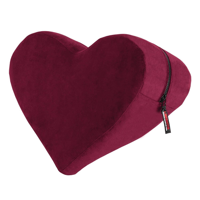 Liberator Heart Wedge - Merlot  Red