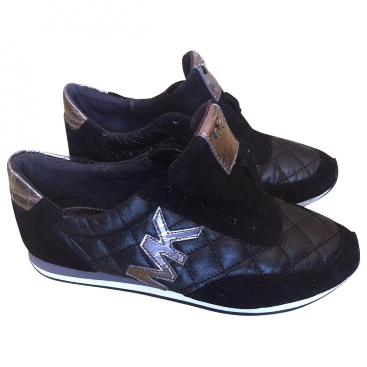 Michael Kors \N Black Leather Trainers for Kids 35 EU