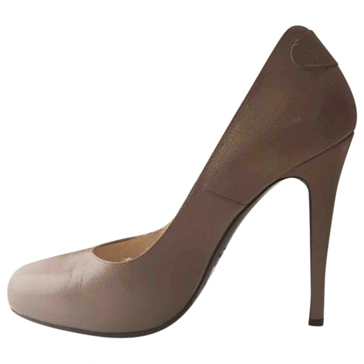 Patrizia Pepe \N Beige Leather Heels for Women 38 EU
