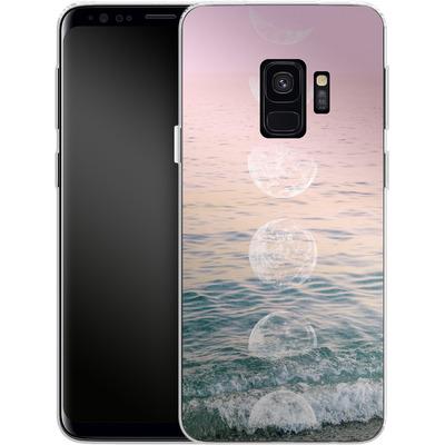 Samsung Galaxy S9 Silikon Handyhuelle - Moontime Beach von Emanuela Carratoni
