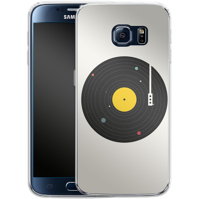 Samsung Galaxy S6 Silikon Handyhuelle - Music Everywhere von Florent Bodart