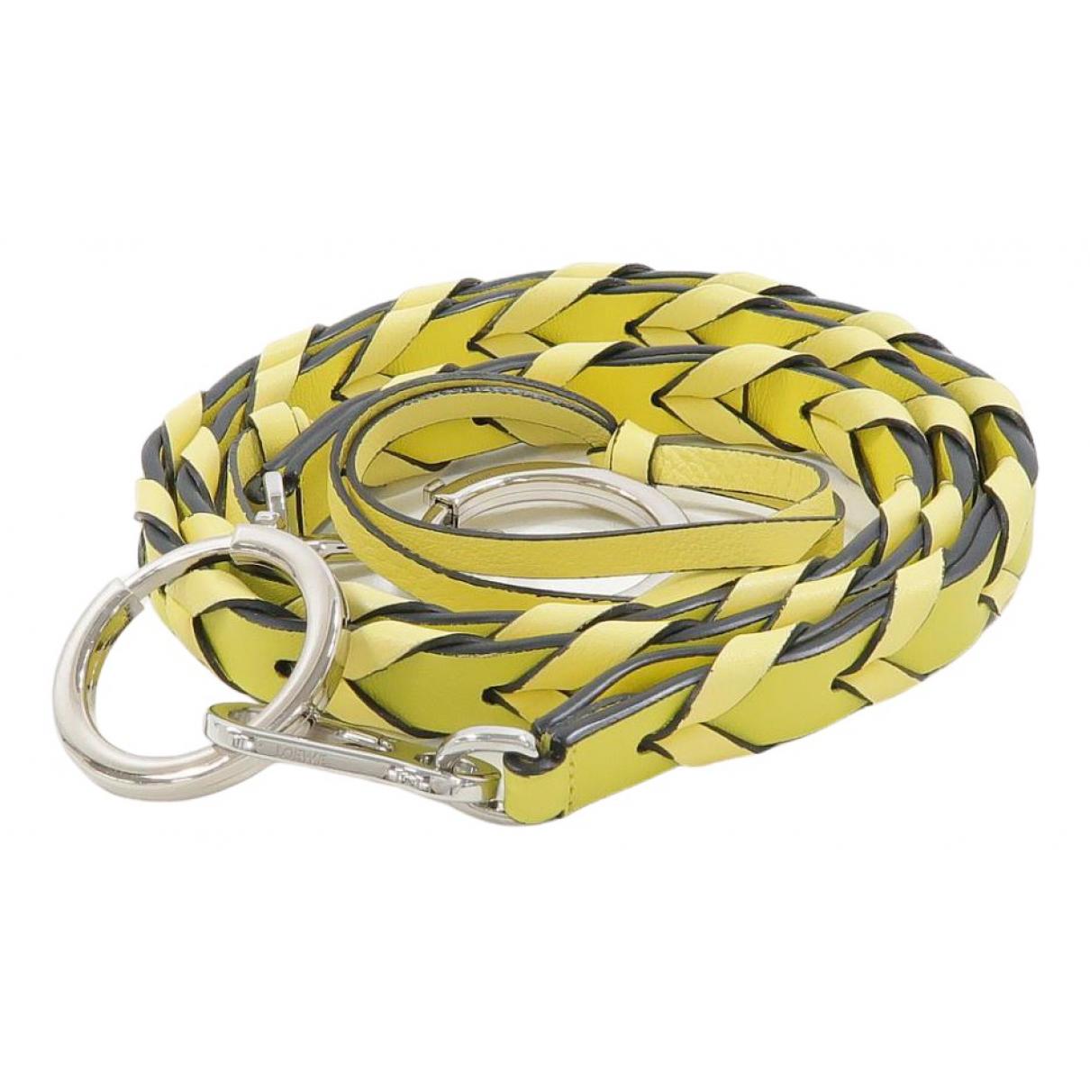 Loewe - Petite maroquinerie   pour femme en cuir - jaune