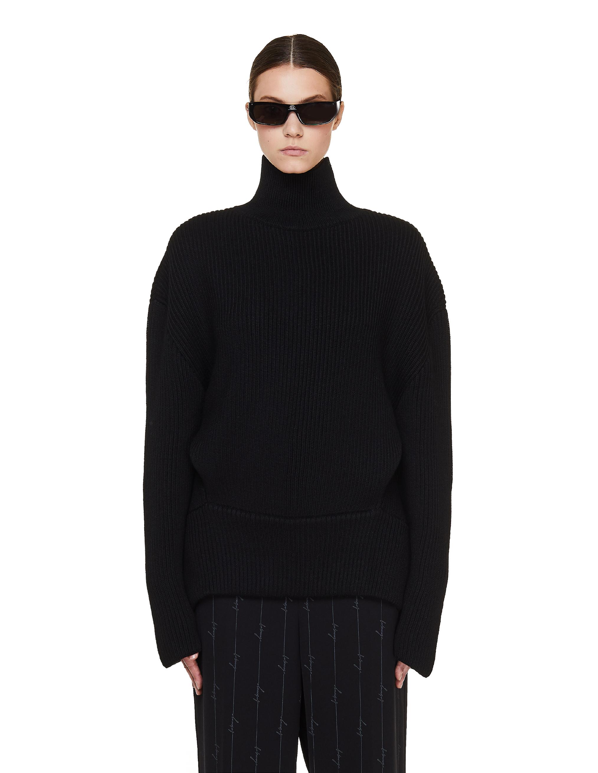 Balenciaga Black Wool Upside Down Sweater