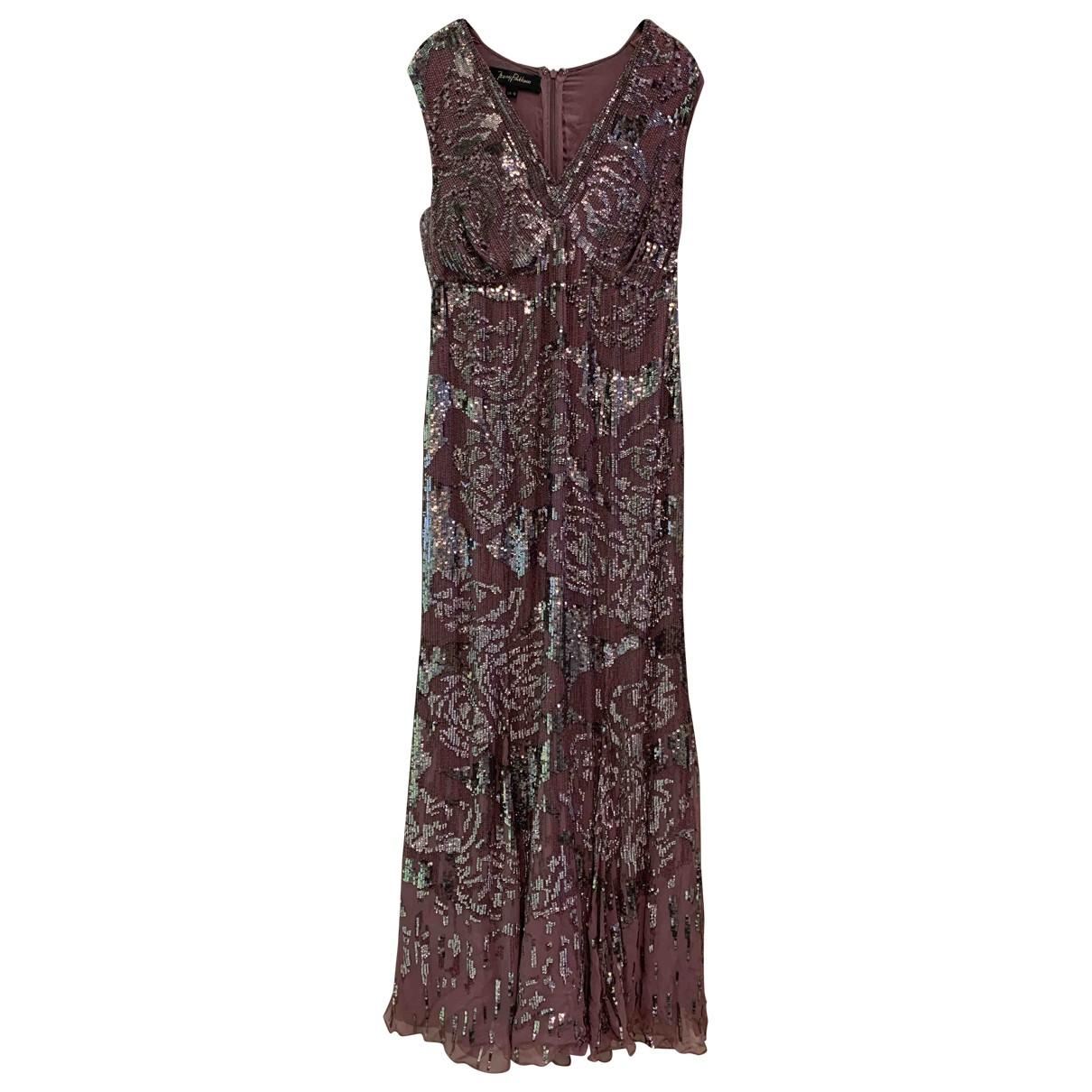 Jenny Packham - Robe   pour femme en a paillettes - rose