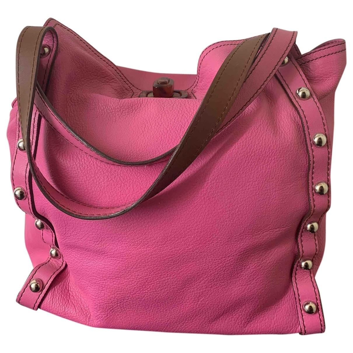 Lanvin \N Handtasche in  Rosa Leder