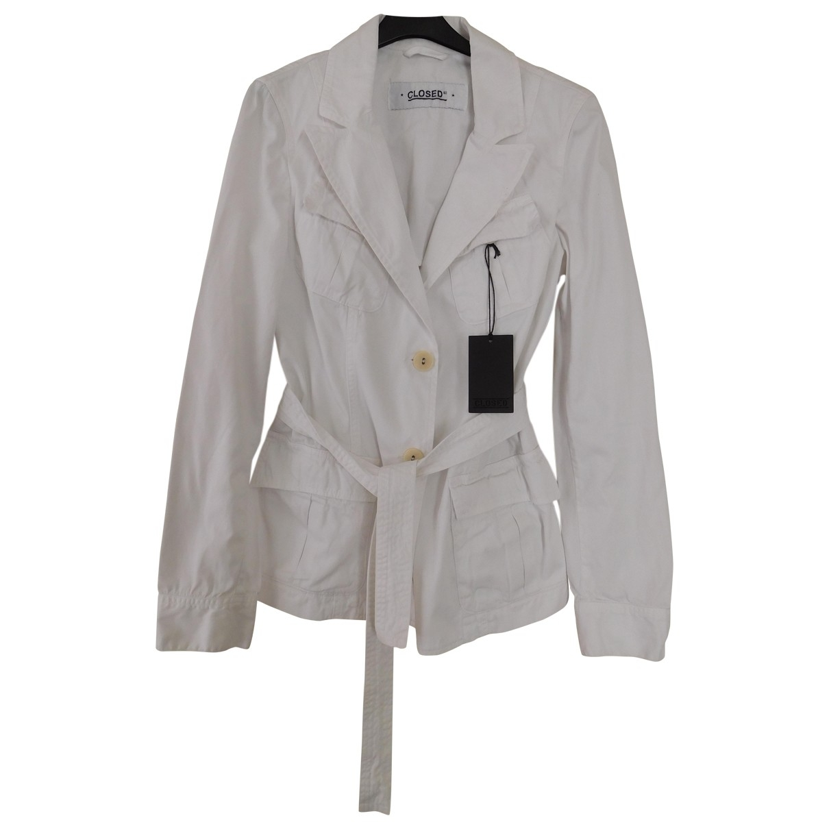 Closed \N White Cotton jacket for Women 38 FR