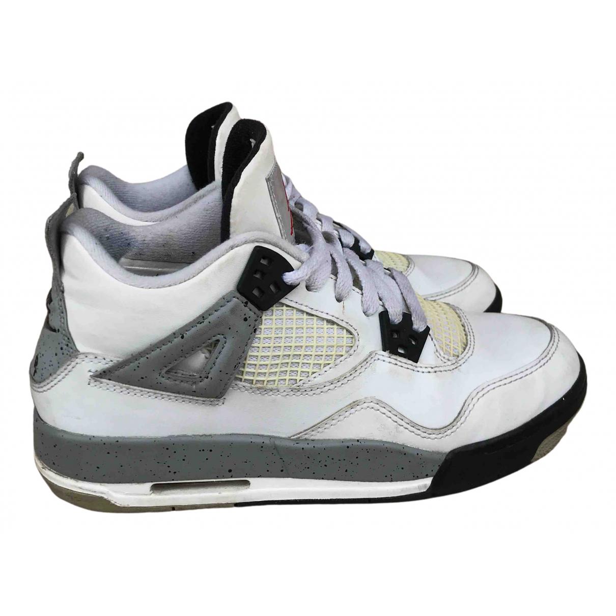 Jordan Air Jordan 4 White Leather Trainers for Women 5.5 US