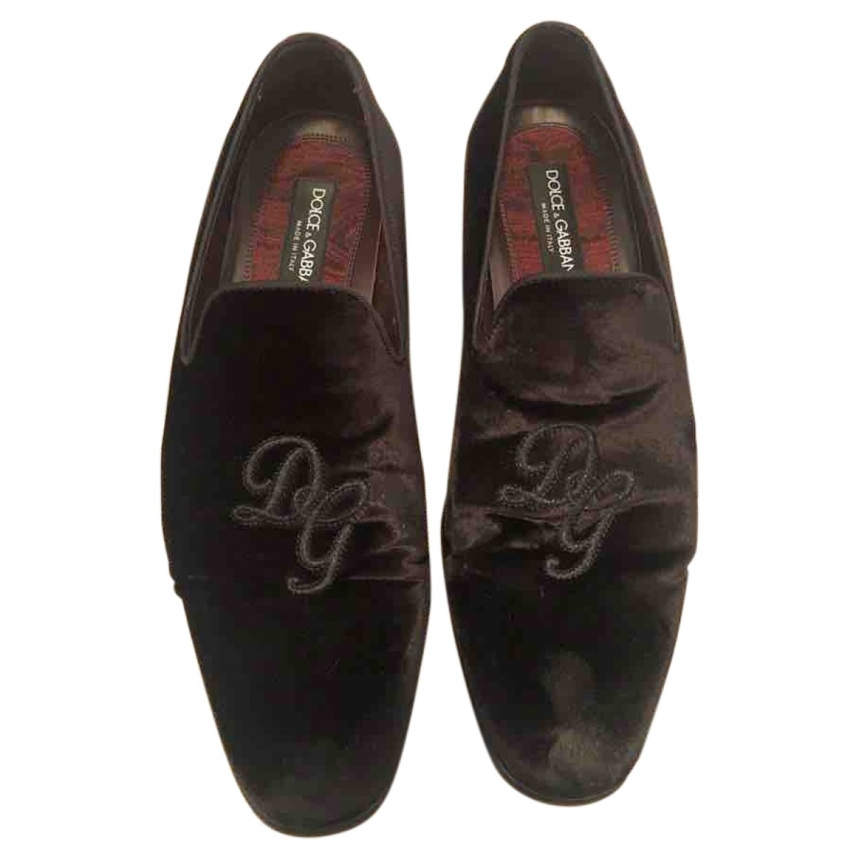 Dolce & Gabbana \N Black Suede Flats for Men 41 EU